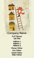 Fox and Ladder Illustration Business Card Template